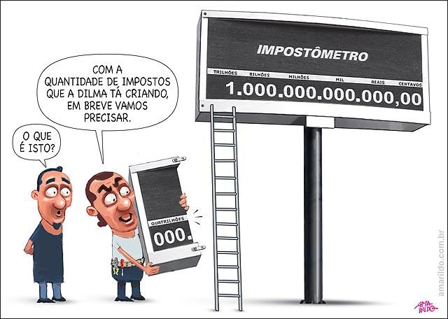 Impostometro Quatrilhao emenda Dilma criando impostos