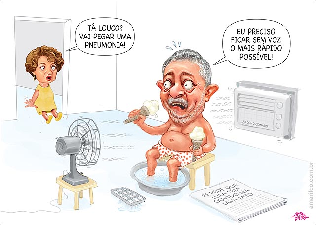 Lula ira depor na lava jato ventilador ar condicionado sorvete gelo para gripar e perder a voz Marisa susto