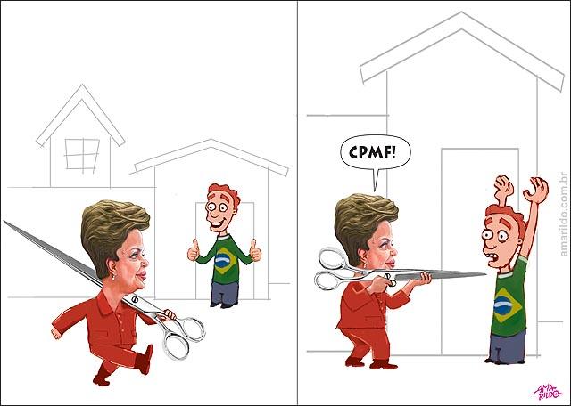 Dilma marchando tesouro corte nao asslto imposto mao levantada contribuinte