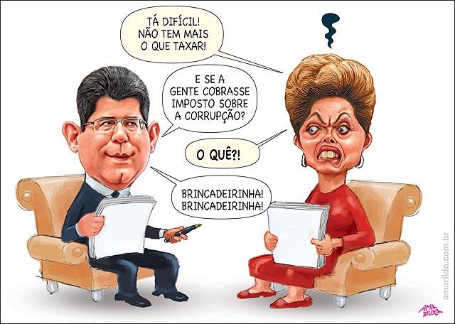 DIlma Levy sofa criando impostos sobre corrupcao brincadeirinha