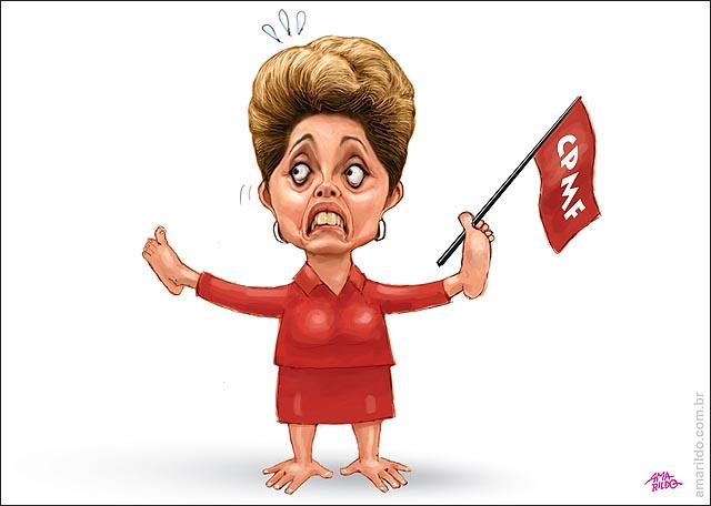 Dilma CPMF pes pelas maos