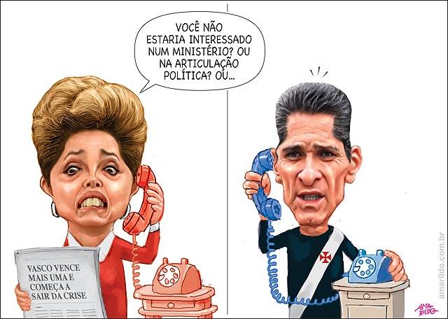 Dilma Liga convida para ministro Vasco Jorginho Tecnico ganha sair da zona do rebaixamento