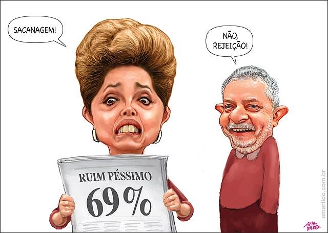 Dilma Popularidade 69 pc sacanagem nao ruim pessimo lula