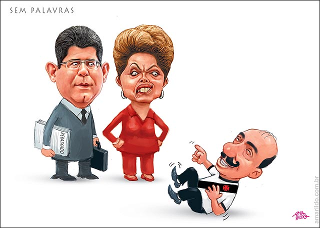 Dilma Brasil rebaixado Economia Vacaino rindo