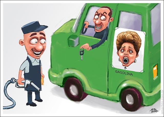 Dilma boca tanque gasolina aumento