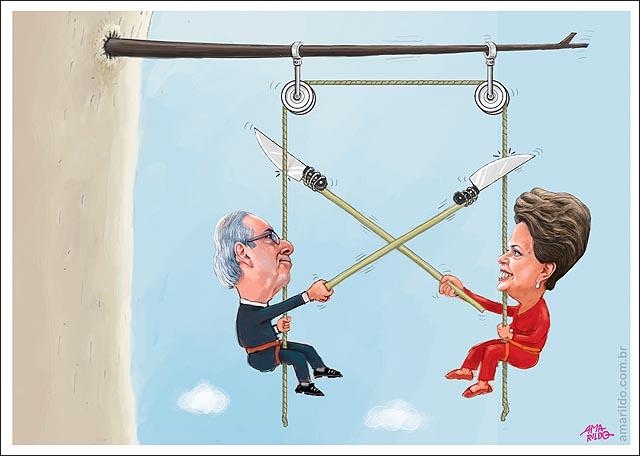 Dima Cunha Rapel abismo pendurado corda faca cortar queda
