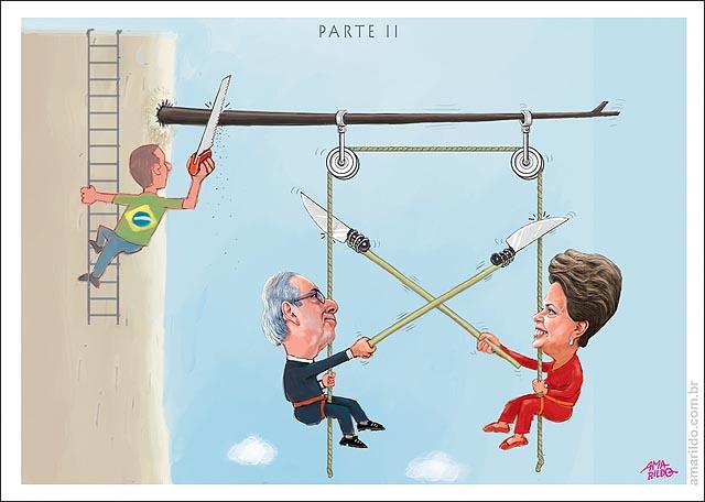 Dilma Cunha Rapel abismo pendurado corda faca cortar queda Braseileiro serrando