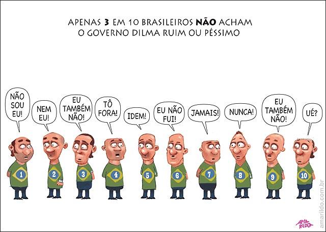 3 EM 10 brasileiros NÃO acham o Governo Dilma ruim ou péssimo eu nao sou