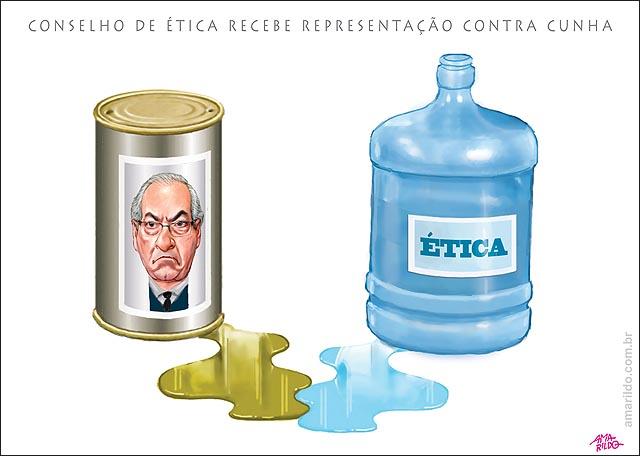 Cunha x etica agua x oleo conselho representacacao cassacao camara