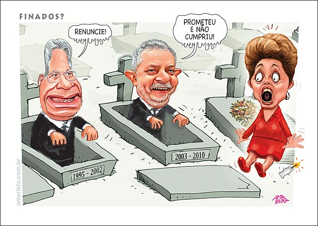 Finados FHC Lula tumulo dilma renuncia walking death
