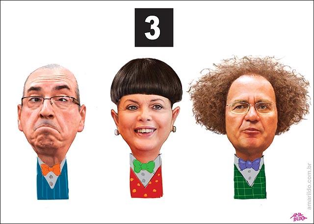 3 patetas Dilma renan Cunha 2