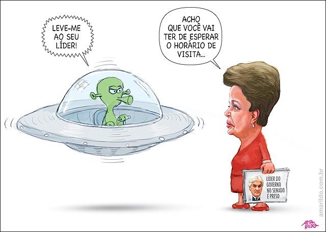 Delcidio Amarildo Preso PF ET dilma leve-me ao seu lider