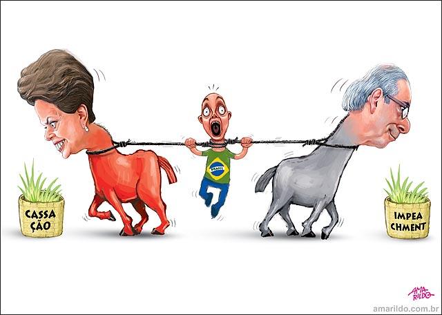 Dima Cunha parabola dos burros Impeachment x cassacao brasileiro pendurado