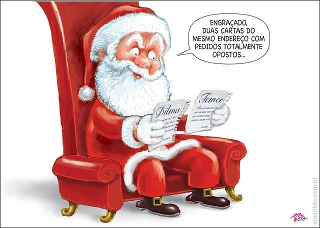 Dilma Temer Papai Noel Carta pedidos diferentes impeachment