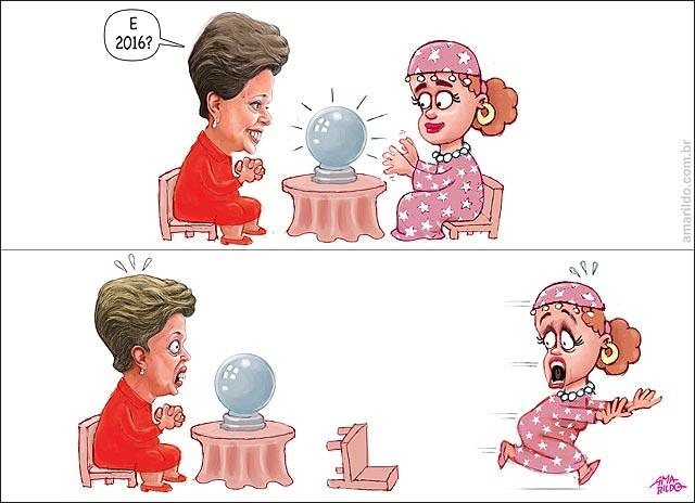 Dilma previsao futuro 2016 cigana corre em panico medo grito munch