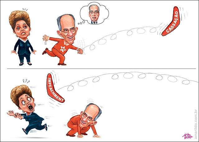 Dilma PT Correndo cassacao impeachment Boomerangue Bumerangue
