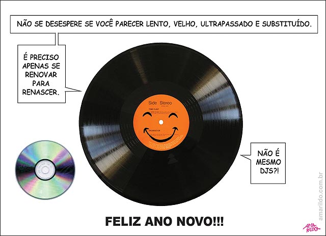 Feliz ano novo CD Disco Vinial Dj renovar