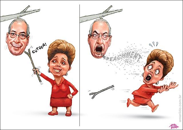 Dilma cutuca marimbondo cunha impeachment corre