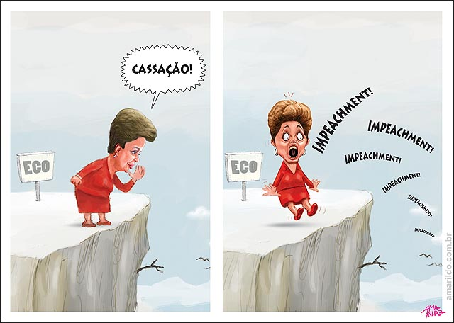 Dilma Grita Cassacao ouve impeachment eco abismo