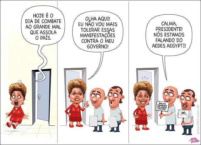 Dilma Susto x Aedes Aegypti Dengue Zica Chikungunya Mosquito Dia de combate ao grande mau
