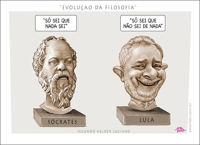 So Sei Que Nada Sei Frase De Socrates: BLOG DO AMARILDO . CHARGE CARICATURA