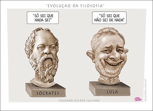 Evolucao da Filosofia Lula x Socrates So sei que nada sei