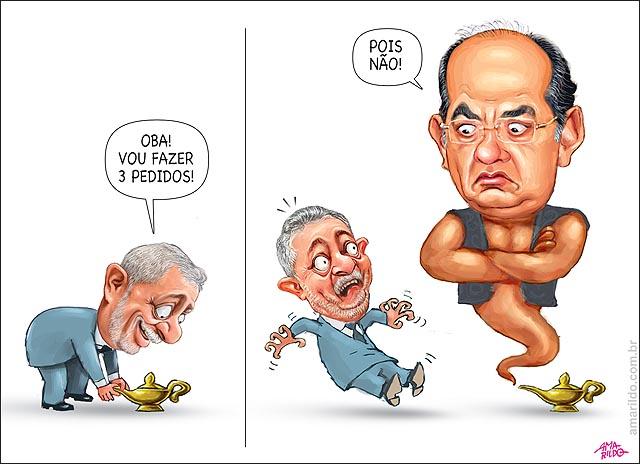 Lula lampada magica genio gilmar mendes 3 pedidos lava jato ministro casa civil