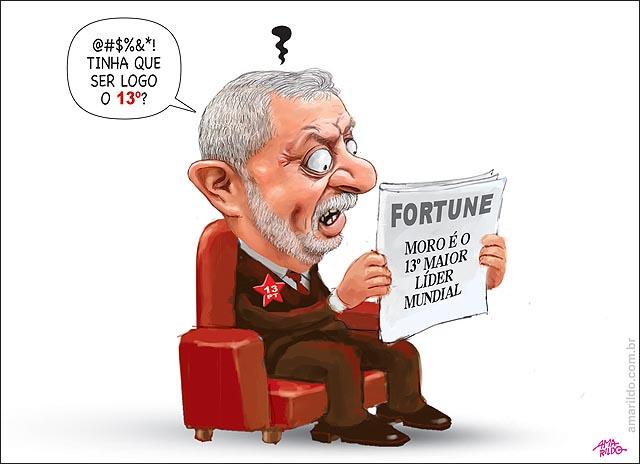 MORO 13 maior lider mundial Revista Fortune Lula raiva lendo 13 nomero do pt