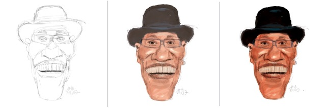 Billy Paul - Caricatura 1 2 3