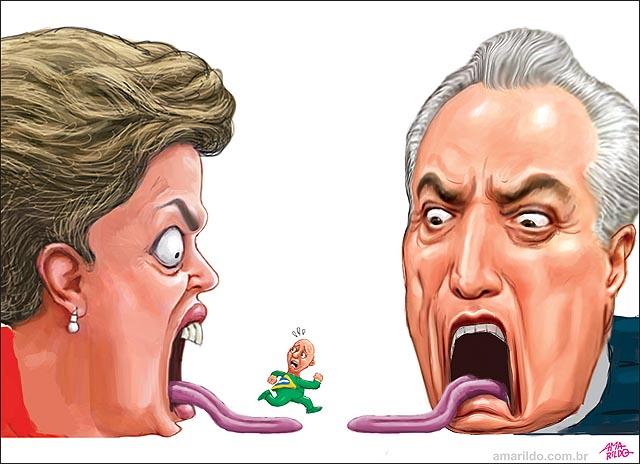 Escapando da boca de dilma entrando na boca de temer impeachment