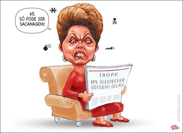69 PC brasileiros desaprovam governo Dilma Ibope pesquisa