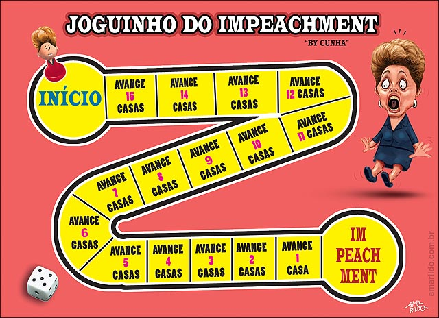 Jogo do impeachment de Dilma dados pedalada nomeacao de lula CIADO POR CUNHA