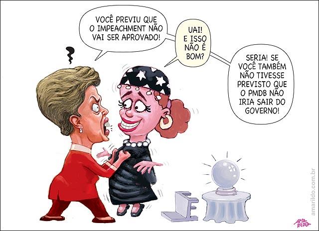 Dilma arrisca paleto gola colarinho previsao futuro cigana impeachment pmdb sai do governo