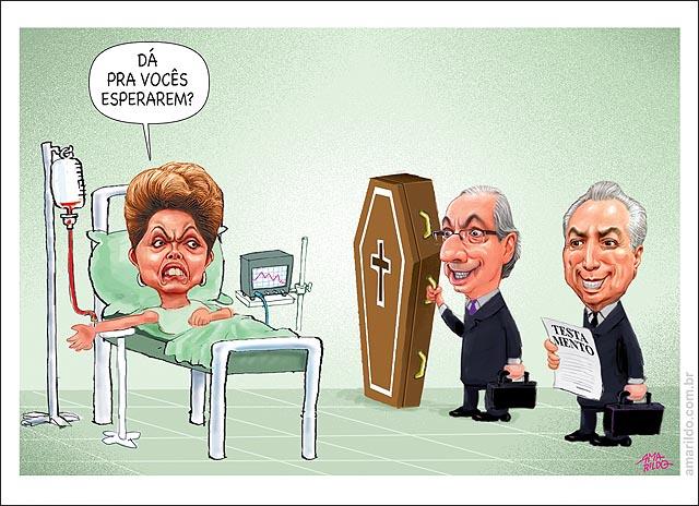 Dilma Cama Hospital Cunha caixao Temer Heranca Da pra esperar padre extrema uncao