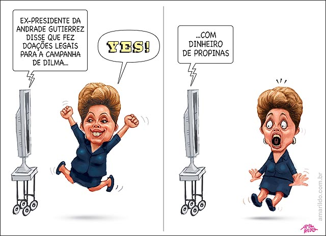 Dilma doacao legal da andrade gutierres de propina TV vibra susto