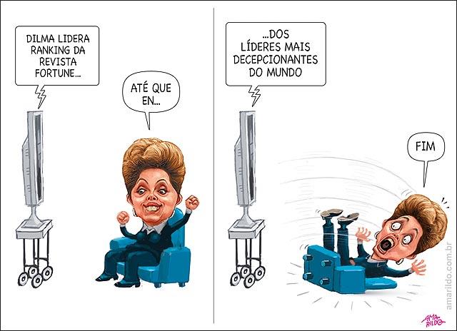 Dilma lidera ranking da revista Fortune do lideres mais decepcionantes do mundo B