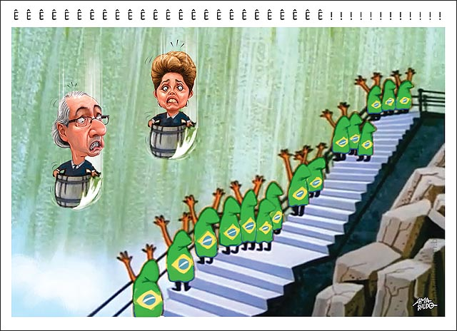 Dilma Cunha Caindo na cachoeira barril pica pau torcida brasileira vibra