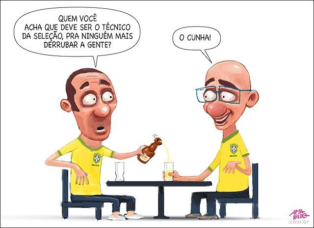 Selecao brasileira eliminada com gol de mao do peru novo tecinco Cunha nao Dunga Mesa bar carveja