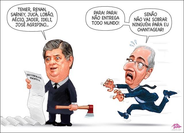 MACHADO lendo lista politicos lava jato Temer Renan Sarney Juca lobao aecio correndo susto chantagem nao sobra ninguem