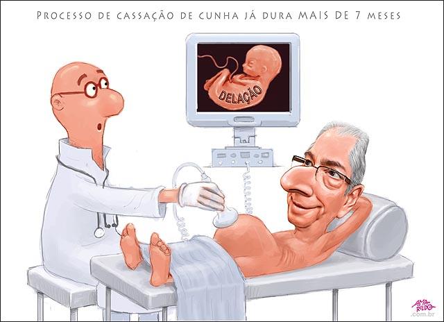 Cunha gravido ultrassom feto nenem delacao premiada exame hospital cama