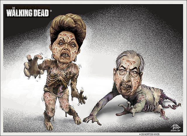 Cunha e Dilma The walking Death
