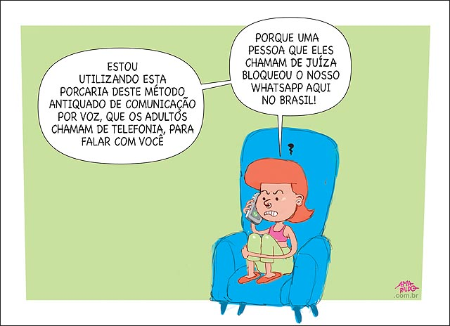 Justiça bloqueia whatsapp no brasil jovem usa telefone para se comunicar com oputro fora do pais