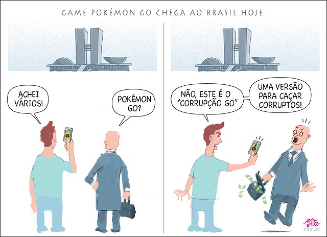Pokemon go chega ao brasil congresso corrupton go celular B