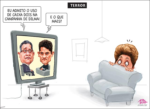 Marqueteiro joao santana admitiu o uso de caixa 2 na campanha de dilma terror tv sergio moro susto medo panico