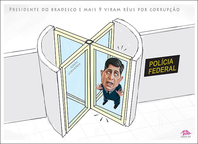 Presidente do bradesco e mais 9 viram reus por corrupção porta giratoria banco presidente preso alarme toca