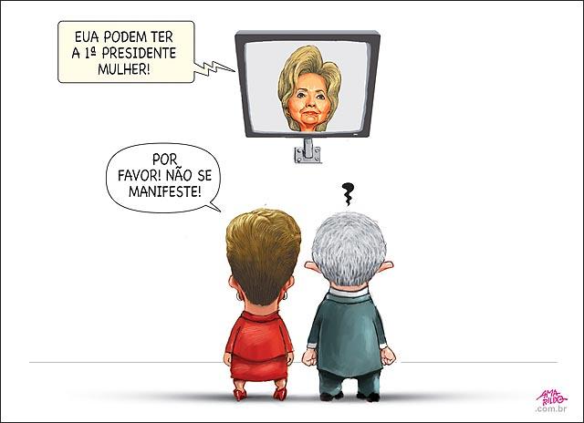 Hilary Clinton primeira presidente americana lula costas puto e dillma caladoTV
