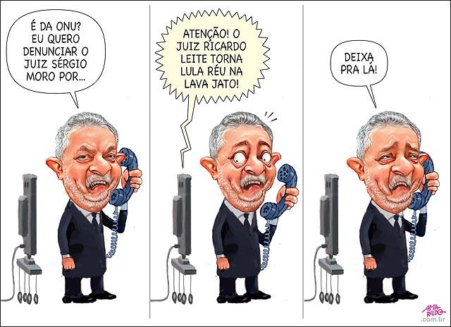 Lula telefone ONU vira reu lava jatao tv esquece Delcidio obstrucao justica juiz ricardo leite brasilia