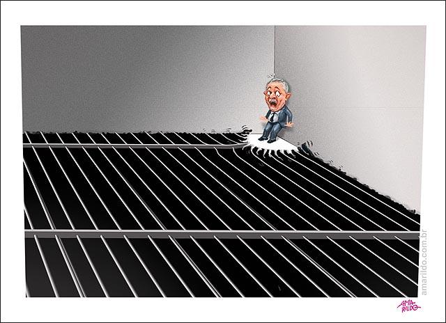 Lula acuado no canto parede vira reu lava jato juiz prisao cadeia cela grade