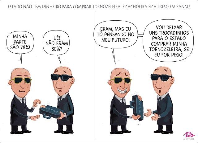 Tornozeleira falta dinheiro p comprar corrupto fica pre negocia desconto para sobrar dinheiro B
