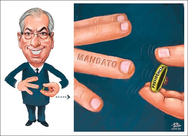 Cunha tira o anel presidencia para salvar o dedo mandato imunidade congresso camara cassacao mao dedo alianca